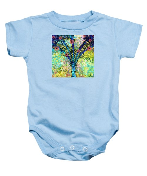 Inspirational Art - Absolute Joy - Sharon Cummings Baby Onesie by Sharon Cummings