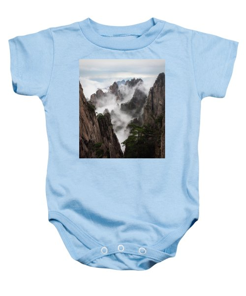 Invisible Hands Painting The Mountains. Baby Onesie