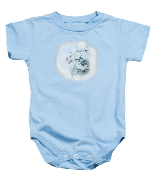 January Bluejay  Baby Onesie by Susan Capuano