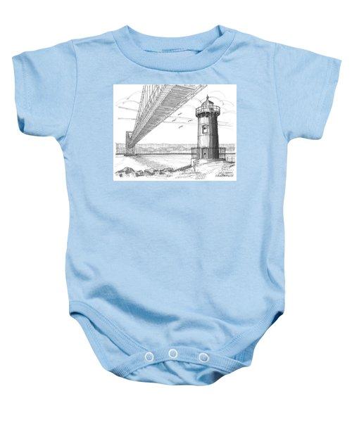 Jeffrey's Hook Lighthouse Baby Onesie