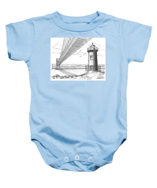 Jeffrey's Hook Lighthouse Baby Onesie