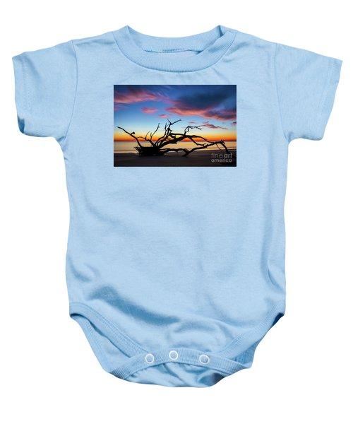 Jekyll Island Sunrise On Driftwood Beach Baby Onesie