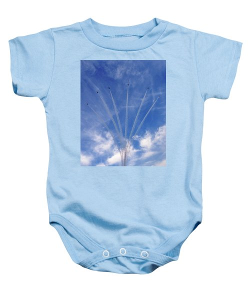 Jet Planes Formation In Sky Baby Onesie