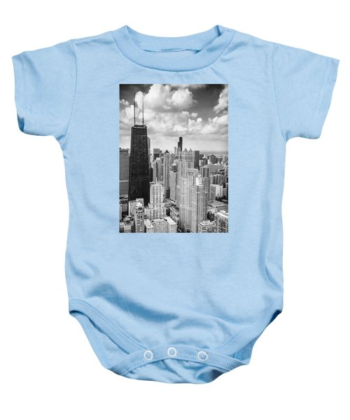 John Hancock Building In The Gold Coast Black And White Baby Onesie
