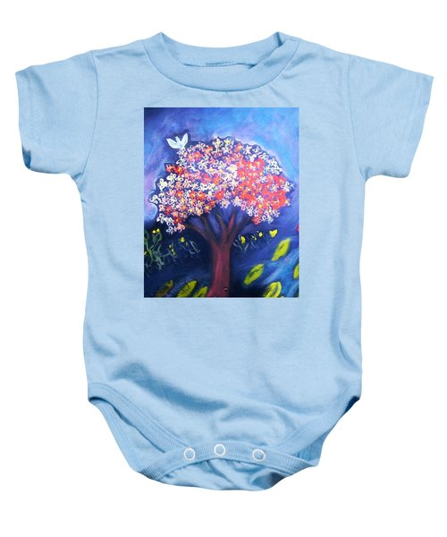 Baby Onesie featuring the painting Joy by Winsome Gunning