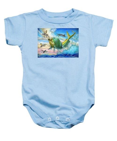 Jumping Mahi Mahi And Flyingfish Baby Onesie