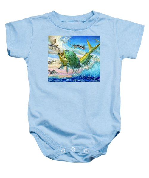 Jumping Mahi Mahi And Flyingfish Baby Onesie