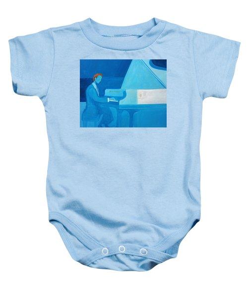 Justin Levitt Steinway Piano Blue Baby Onesie