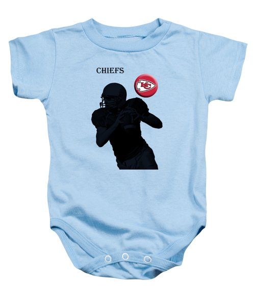 Kansas City Chiefs Football Baby Onesie by David Dehner