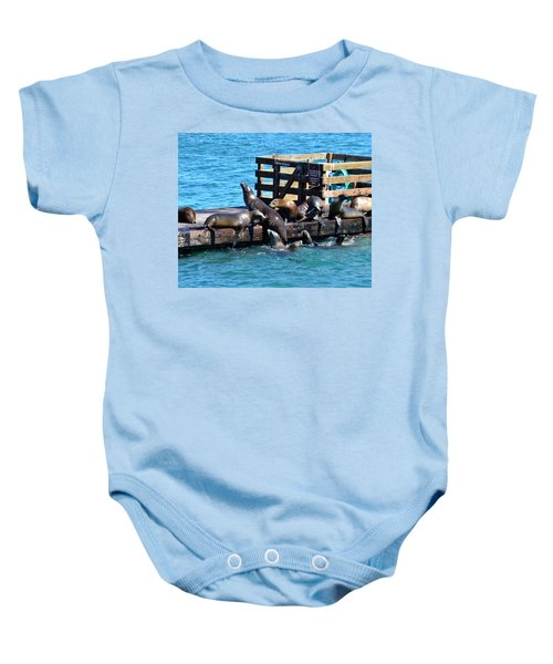Keep Off The Dock - Sea Lions Can't Read Baby Onesie