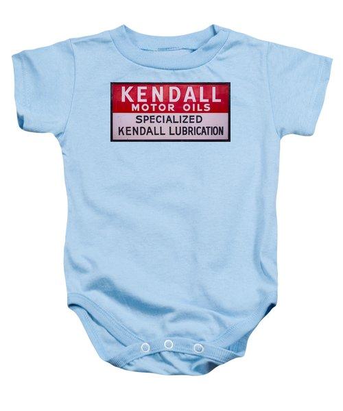 Kendall Motor Oils Sign Baby Onesie
