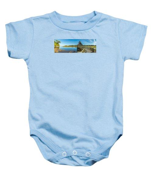 Kiawah Island Boathouse Panoramic Baby Onesie