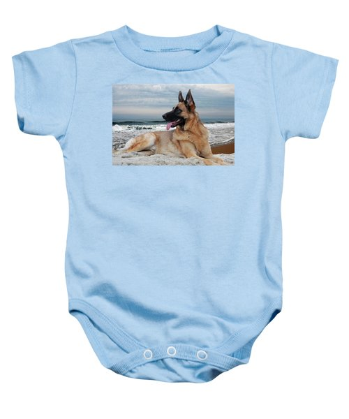 King Of The Beach - German Shepherd Dog Baby Onesie