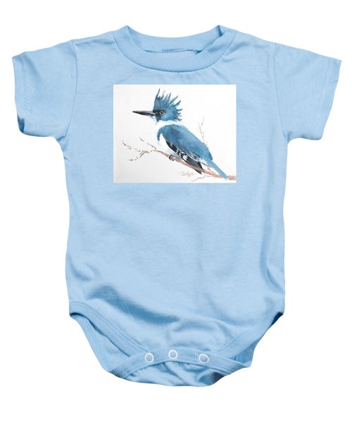 Kingfisher On A Branch Baby Onesie