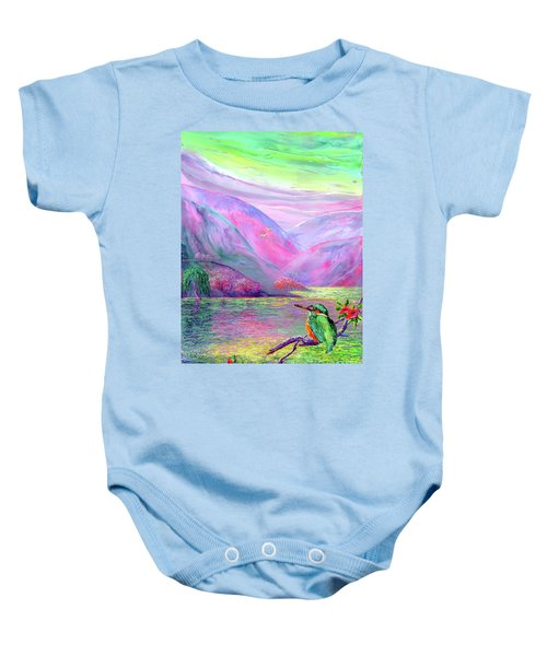 Kingfisher, Shimmering Streams Baby Onesie