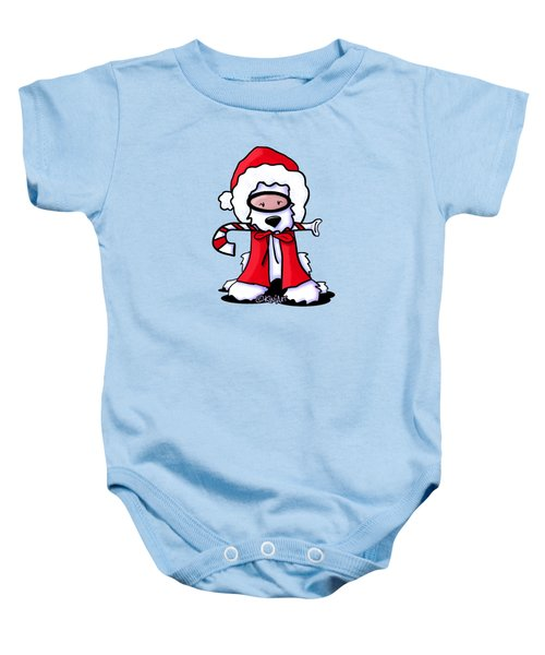 Kiniart Snorkel Westie Santa Baby Onesie