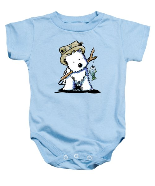 Kiniart Westie Fisherman Baby Onesie