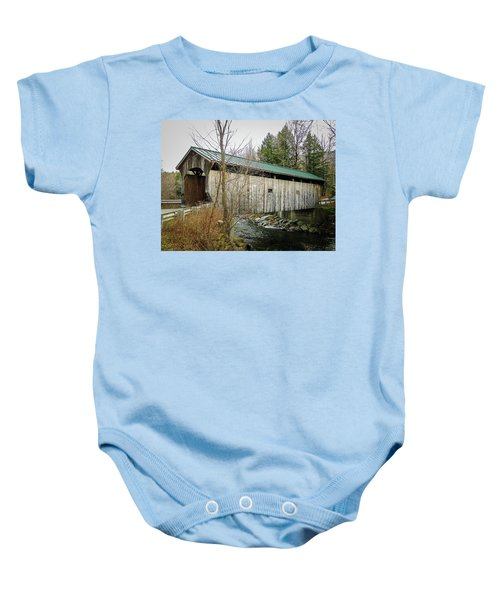 Kissing Bridge Baby Onesie