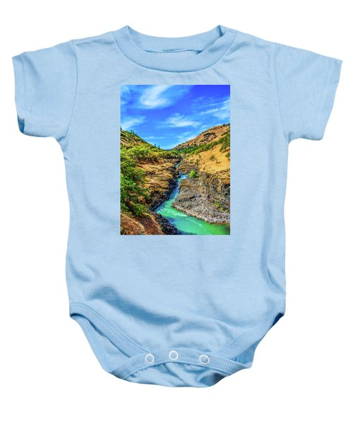 Klickitat River Canyon Baby Onesie