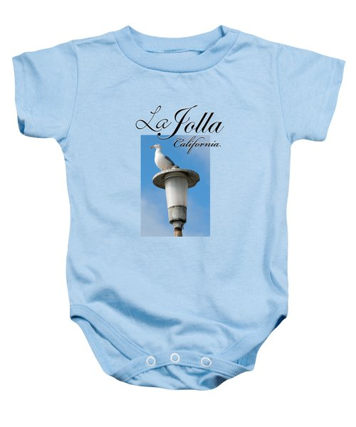 La Jolla Beach Seagull II Baby Onesie by K D Graves