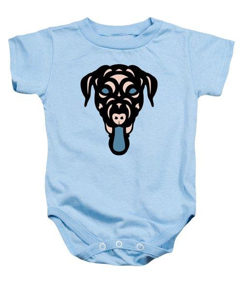 Labrador Dorianna - Dog Design - Island Paradise, Pale Dogwood,  Niagara Blue Baby Onesie