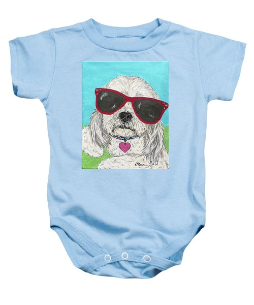 Laci With Shades Baby Onesie