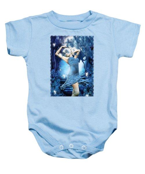 Lady Blue Fantasy Art Baby Onesie by Sharon and Renee Lozen
