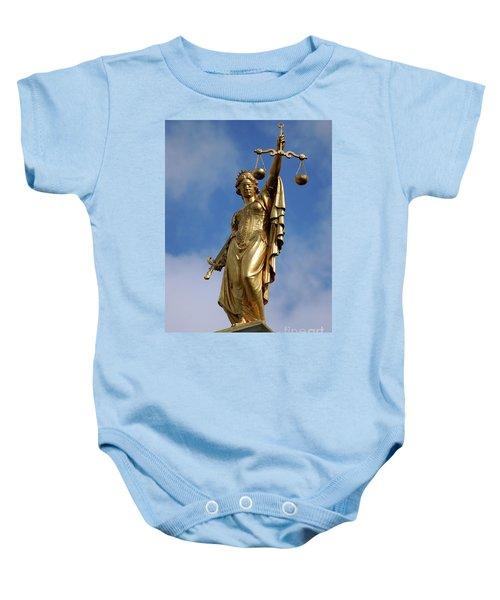 Lady Justice In Bruges Baby Onesie