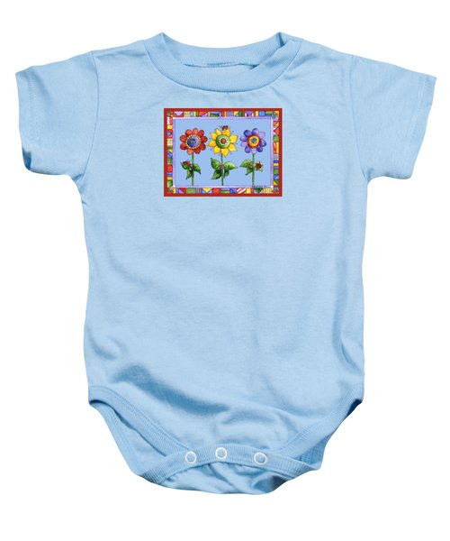 Ladybug Trio Baby Onesie by Shelley Wallace Ylst