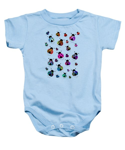 Ladybugs In Flight Baby Onesie