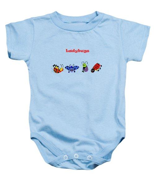 Ladybugs T-shirt Baby Onesie by Karen Beasley