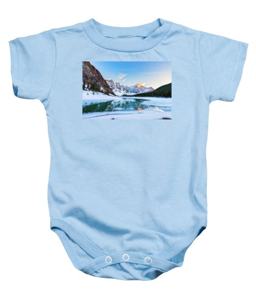 Lake Moraine Sunset Baby Onesie
