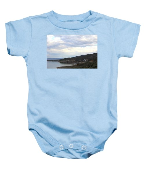 Lake Roosevelt Bridge 1 Baby Onesie