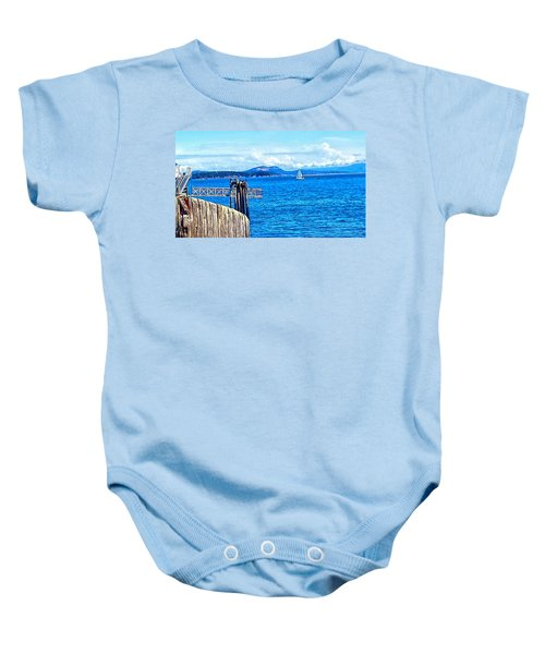 Land And Sea Baby Onesie