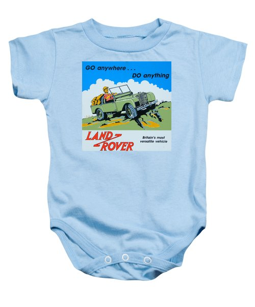 Landrover Advert - Go Anywhere.....do Anything Baby Onesie