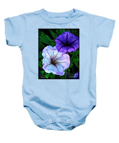 Last Of The Petunias   Baby Onesie