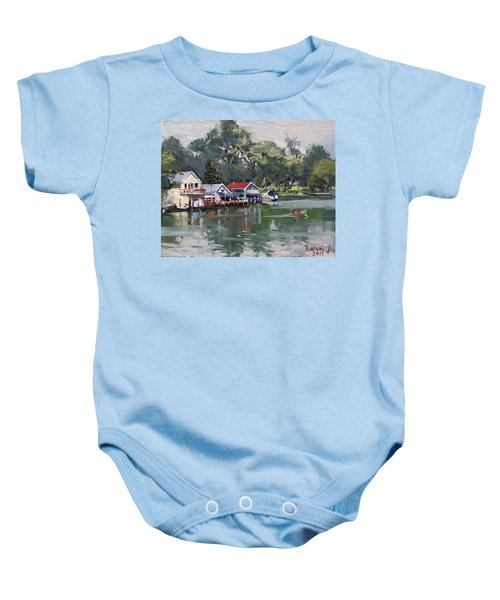 Late Afternoon By The Canal Baby Onesie