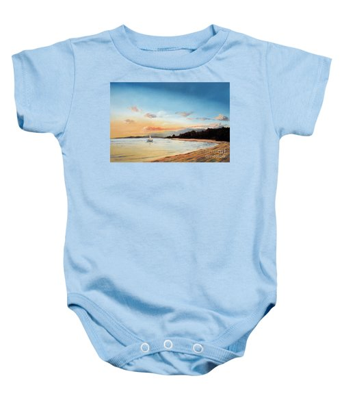 Late Sunset Along The Beach Baby Onesie