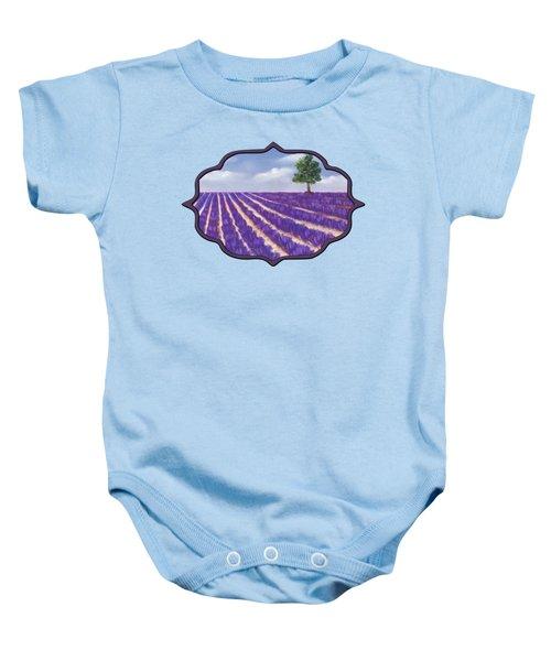 Lavender Season Baby Onesie