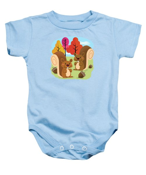 Let The Acorns Fall Baby Onesie