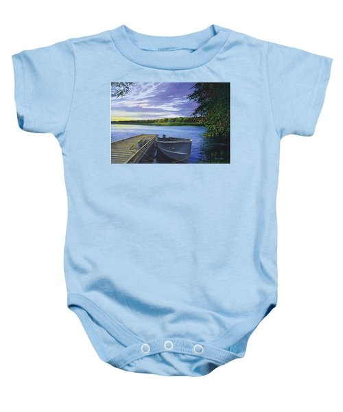 Let's Go Fishing Baby Onesie