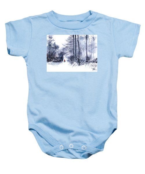 Let's Go For A Walk 2 Baby Onesie