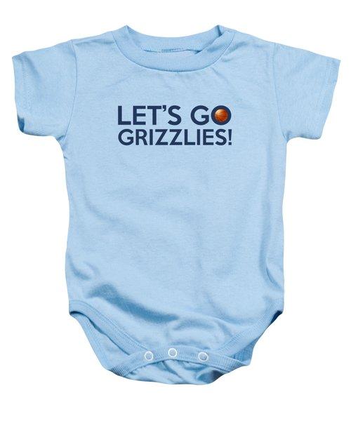 Let's Go Grizzlies Baby Onesie