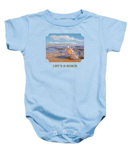 Life's A Beach - Murex Ramosus Seashell Baby Onesie