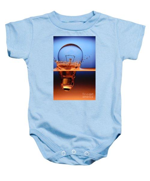 Light Bulb And Splash Water Baby Onesie