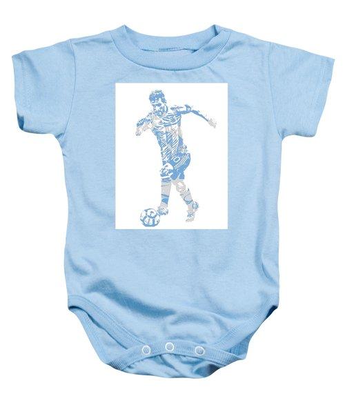 Lionel Messi F C Barcelona Argentina Pixel Art 4 Baby Onesie