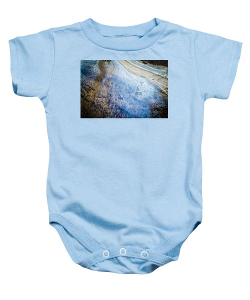 Liquid Oil On Water With Marble Wash Effects Baby Onesie