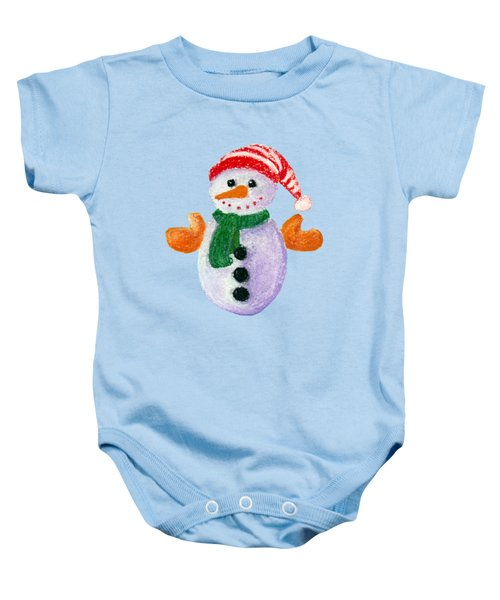 Little Snowman Baby Onesie