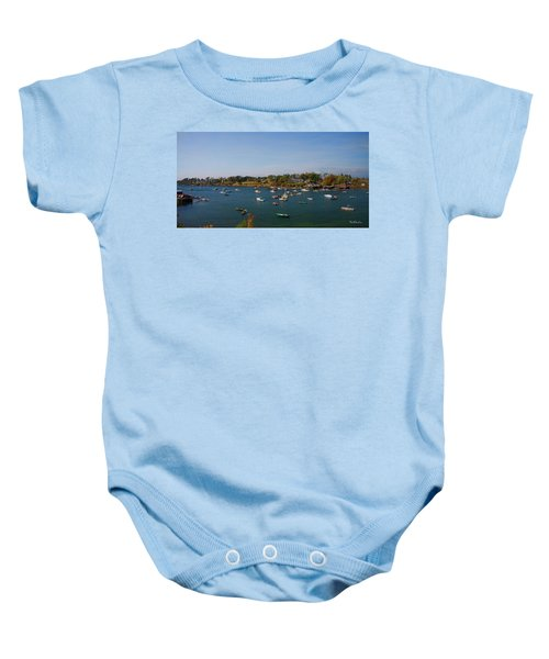 Lobster Boats On The Coast Of Maine Baby Onesie