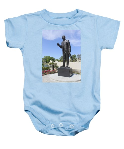 Louis Armstrong Sculpture In New Orleans 30 Baby Onesie